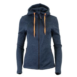 Lady Jacket Knitted Hoodie navy