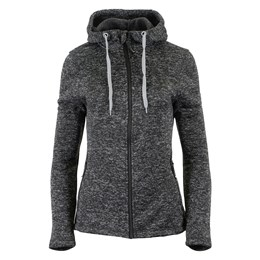 Lady Jacket Knitted Hoodie carbon